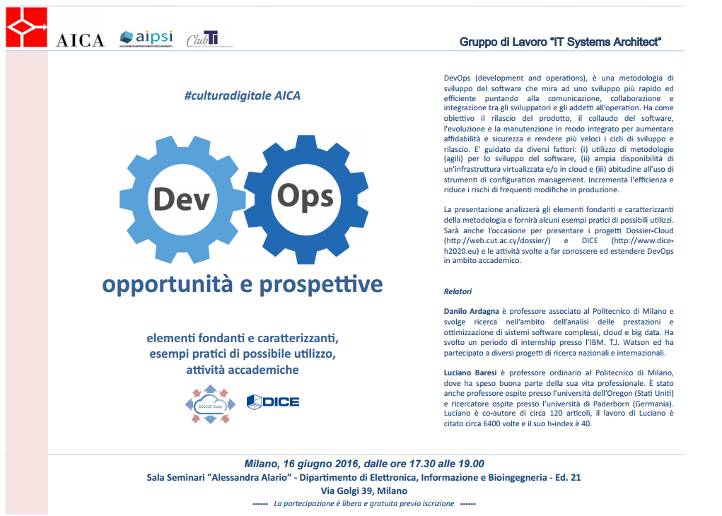 DevOps organised  with AICA