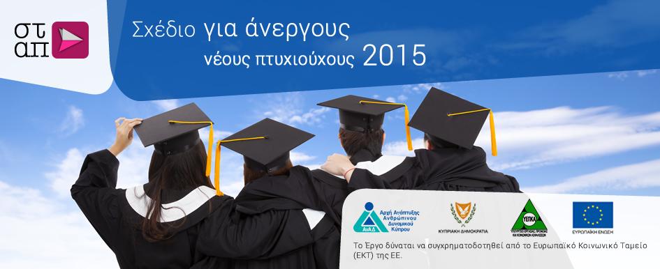 Σχέδιο Τοποθέτησης Ανέργων Νέων Πτυχιούχων για Απόκτηση Εργασιακής Πείρας σε Επιχειρήσεις/ Οργανισμούς – 2015