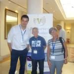 George Manganaris with John Labavitch and Ilaria Mignani