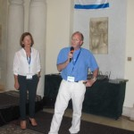 Daniel Valero and Maria Gil presenting the candidacy of Madrid for